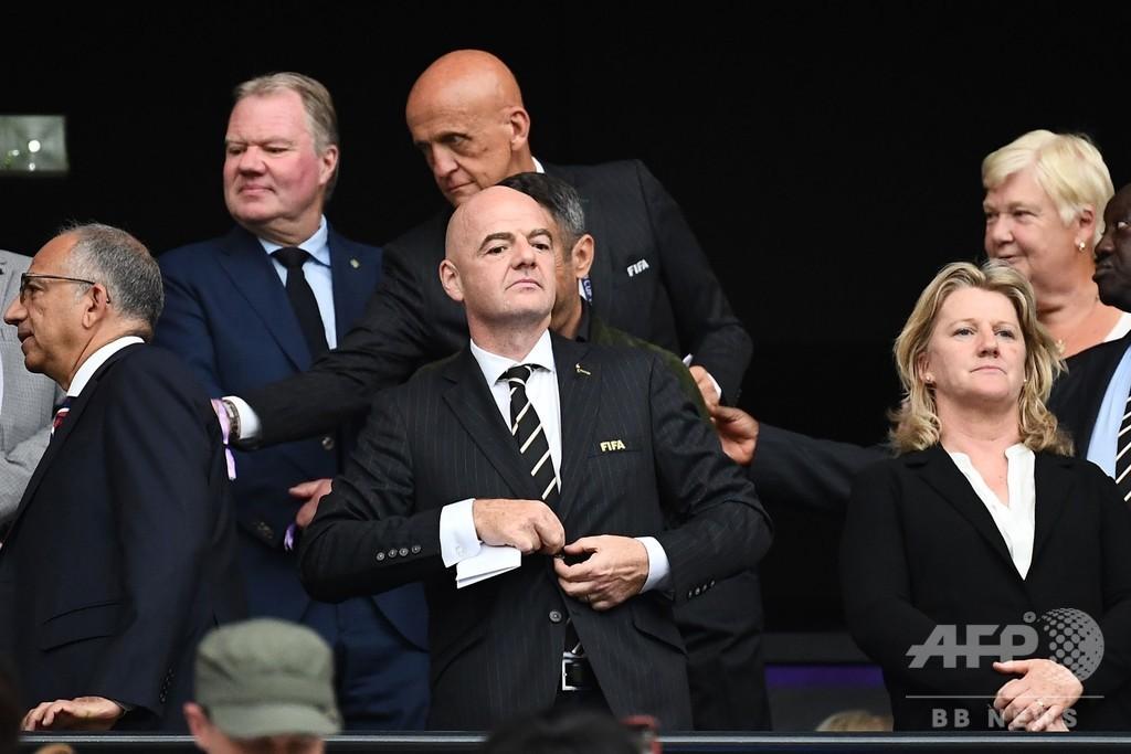 女子W杯の出場枠を32か国に拡大へ、FIFA会長が提案