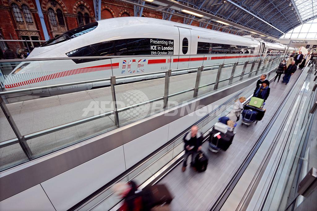 独高速鉄道ICE、ロンドンまで初の試運転 定期便の計画も