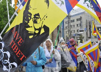 中国国家主席訪問への抗議集会、奈良