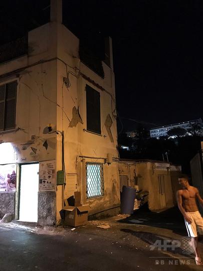 伊イスキア島で地震、1人死亡1人...