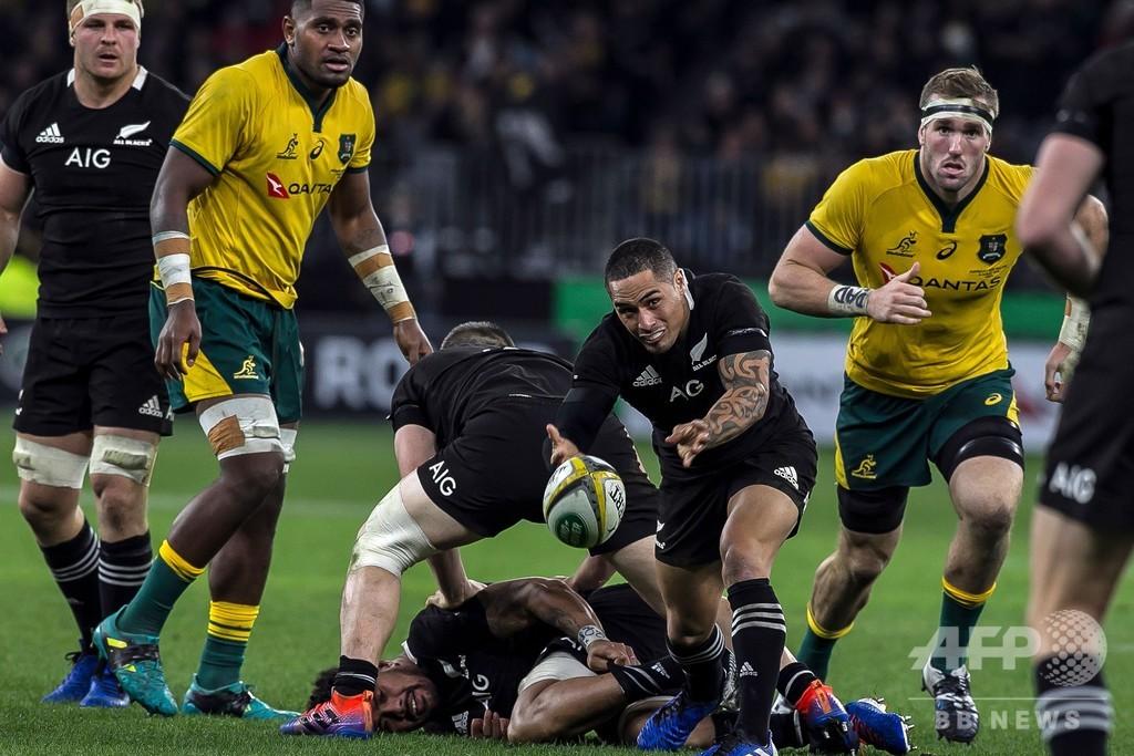 NZが豪に敗戦、指揮官は規律の乱れ嘆く ラグビー南半球対抗戦