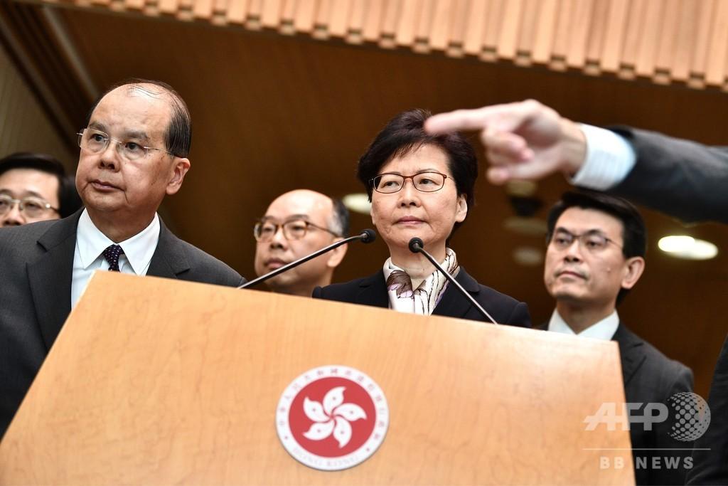 デモ隊の目標は「政府転覆」 香港行政長官、断固取り締まりを明言