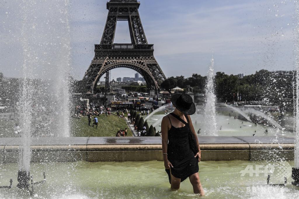 仏パリ、今週にも最高気温を更新か 欧州北部に熱波