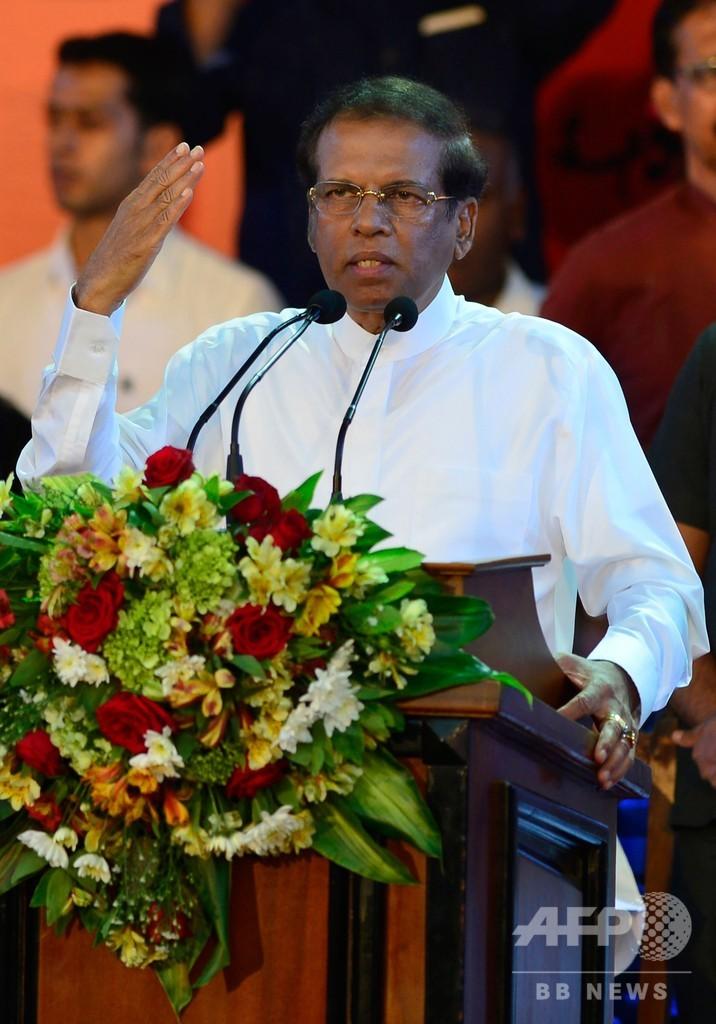 スリランカ大統領、議会を解散 来年1月に選挙 混迷深まる