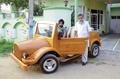 ボディーにチーク材、自作オープンカー登場 インド