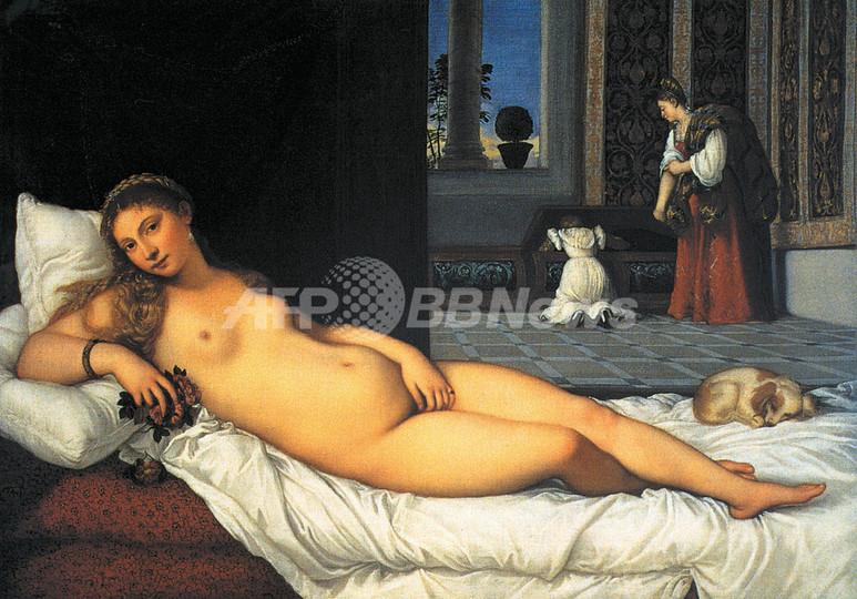 ルネサンス美術のヌードに服着せ、中国政府の検閲に抗議