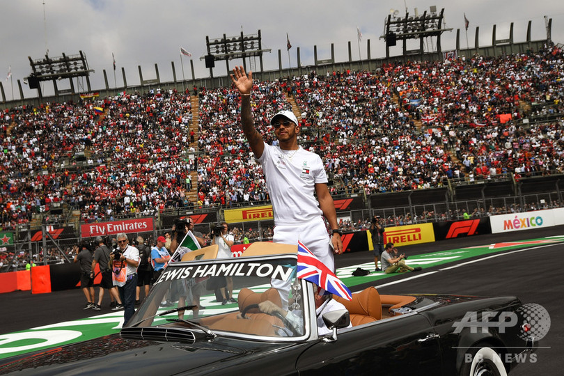 メキシコGPスタート前にドライバーズパレード