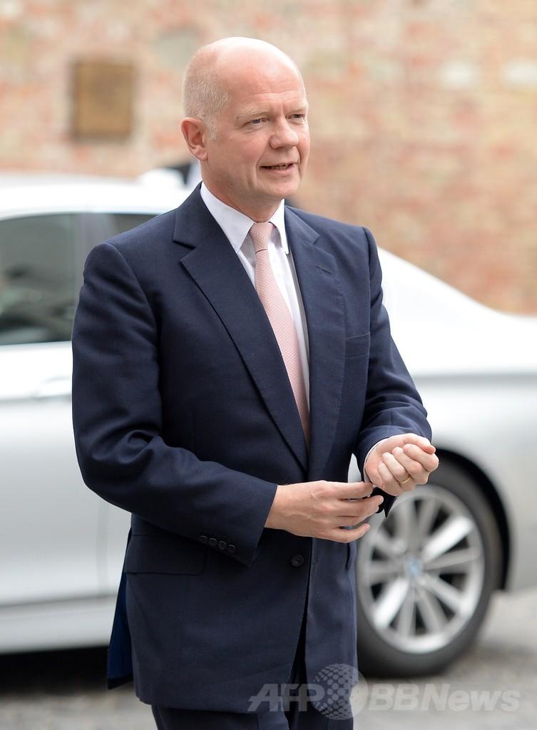 ヘイグ英外相が辞任、大規模内閣改造で