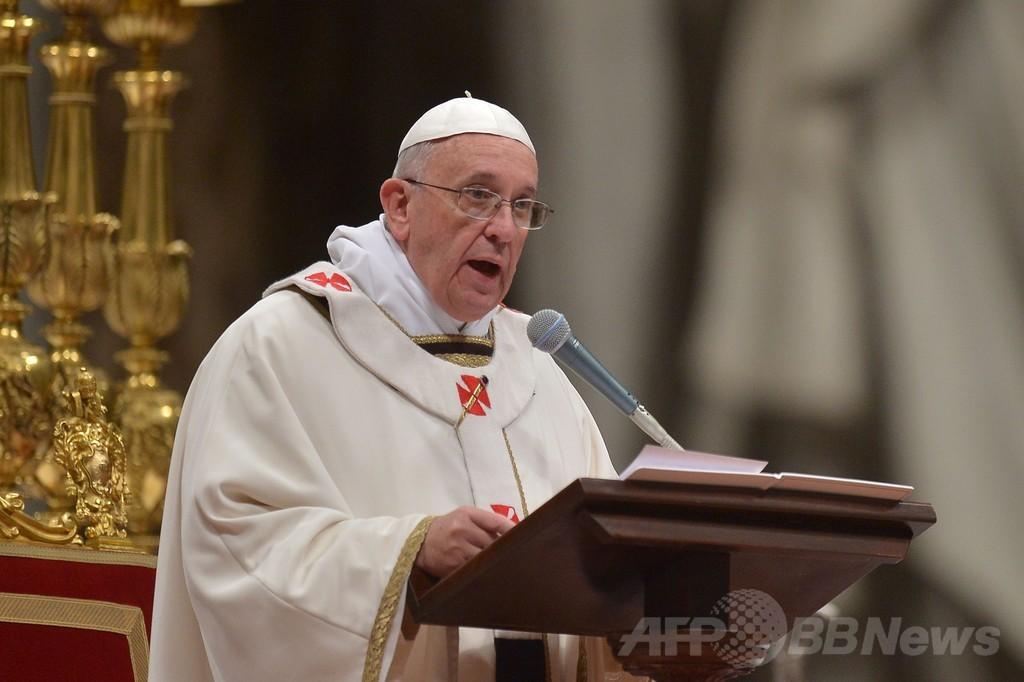 フランシスコ法王がクリスマス・イブのミサ、就任後初めて