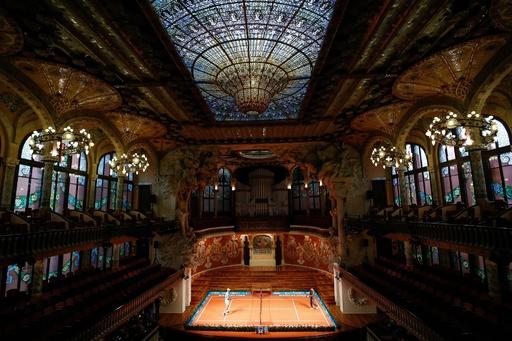 錦織とナダルが豪華ミニテニス、カタルーニャ音楽堂で大会イベント