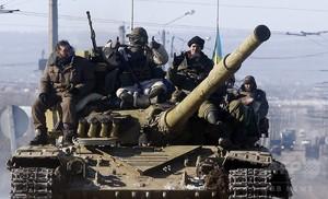 親露派が東部の要衝制圧 ウクライナ大統領、平和維持軍派遣を要請