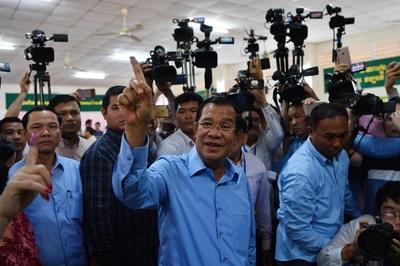 カンボジア総選挙、与党が予想通りの圧勝 最大野党解党で対抗勢力なく
