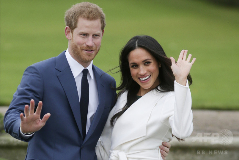 英ヘンリー王子と米女優メーガン・マークルさん、来年5月19日に挙式