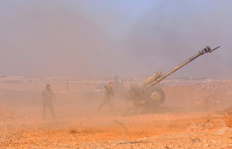 シリア軍、アレッポ東部に猛攻 ラッカ周辺では米軍に初の戦死者