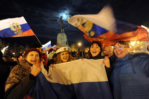 クリミアがウクライナから独立宣言、ロシア編入9割賛成