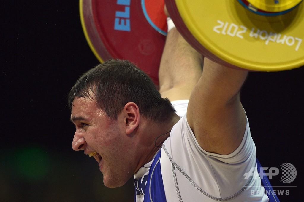 ロシアの重量挙げ選手5人に暫定処分、一斉回収した検体で薬物違反が発覚