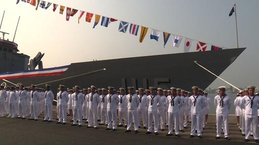 動画:台湾、米から購入のフリゲート艦2隻就役