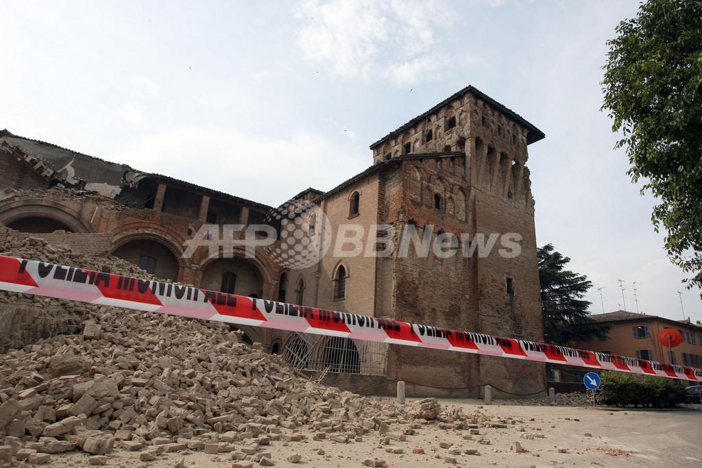 イタリア北部でM6の地震、6人死亡 歴史的建造物の被害甚大