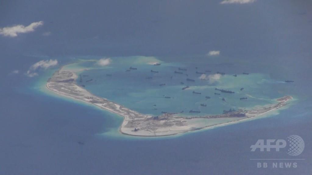 中国が南シナ海の人工島に兵器、米国が確認