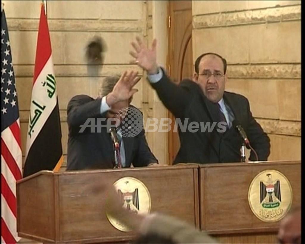 【動画】ブッシュ大統領に靴投げたイラク人記者、中東では英雄視