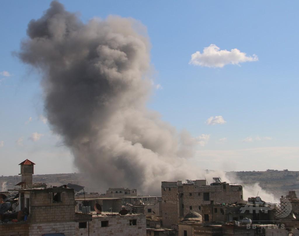 ロシアがアルカイダ系組織の刑務所空爆、87人死傷 シリア