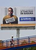 ごみの不法投棄で顔写真と氏名を公表、市街地看板に メキシコ