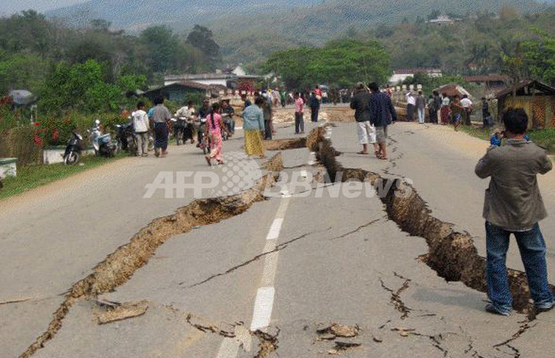ミャンマー東部の地震、死者75人に