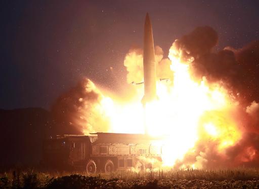 金正恩氏、ミサイル発射は米韓演習への「警告」 KCNA