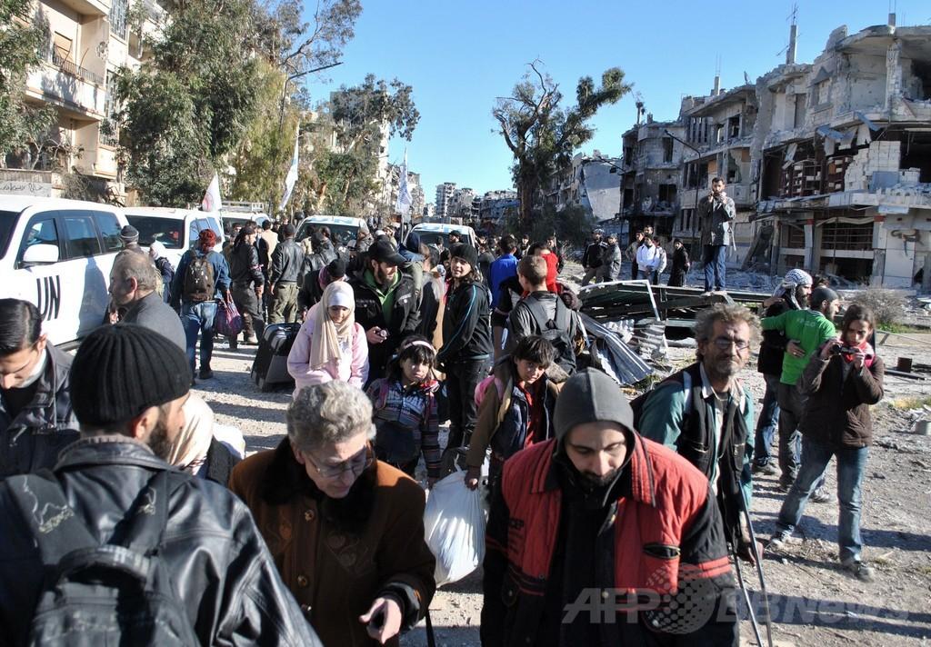 シリアで25万人がまだ包囲下に、ホムス避難で国連が警鐘