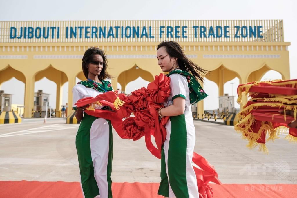 ジブチに「アフリカ最大」の自由貿易区が一部完成、翻る中国国旗