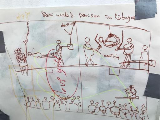 悪夢と思い出、地中海で救助された移民たちが絵にした人生