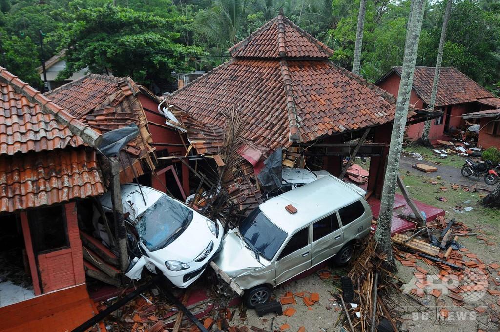 インドネシア津波、死者222人に 専門家は新たな発生を警告