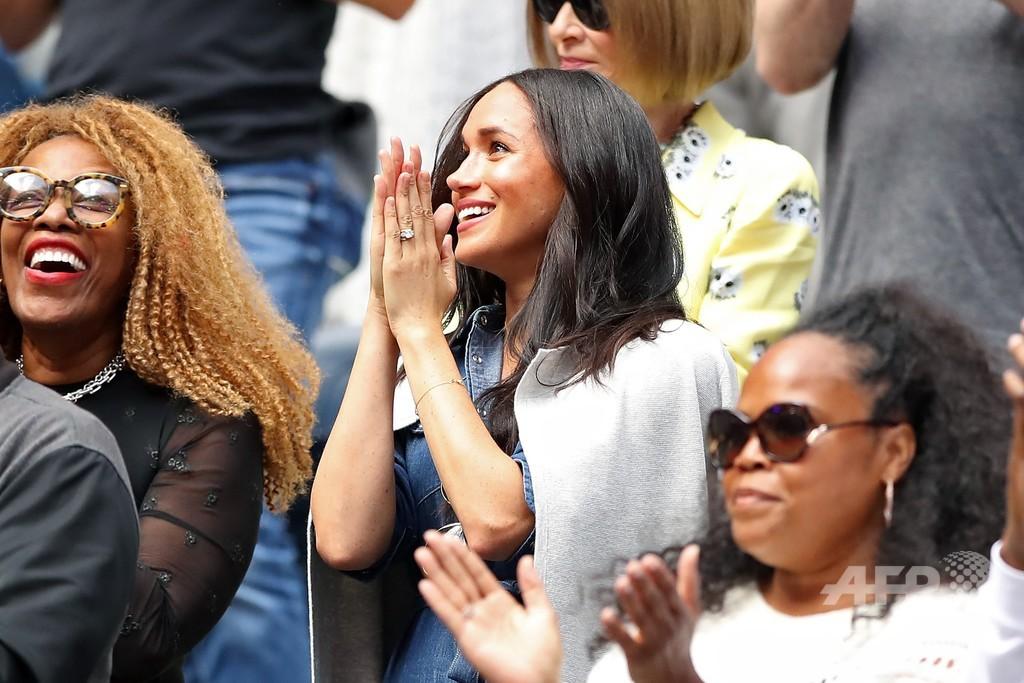メーガン妃が「親友」セレーナの決勝を観戦、全米OP