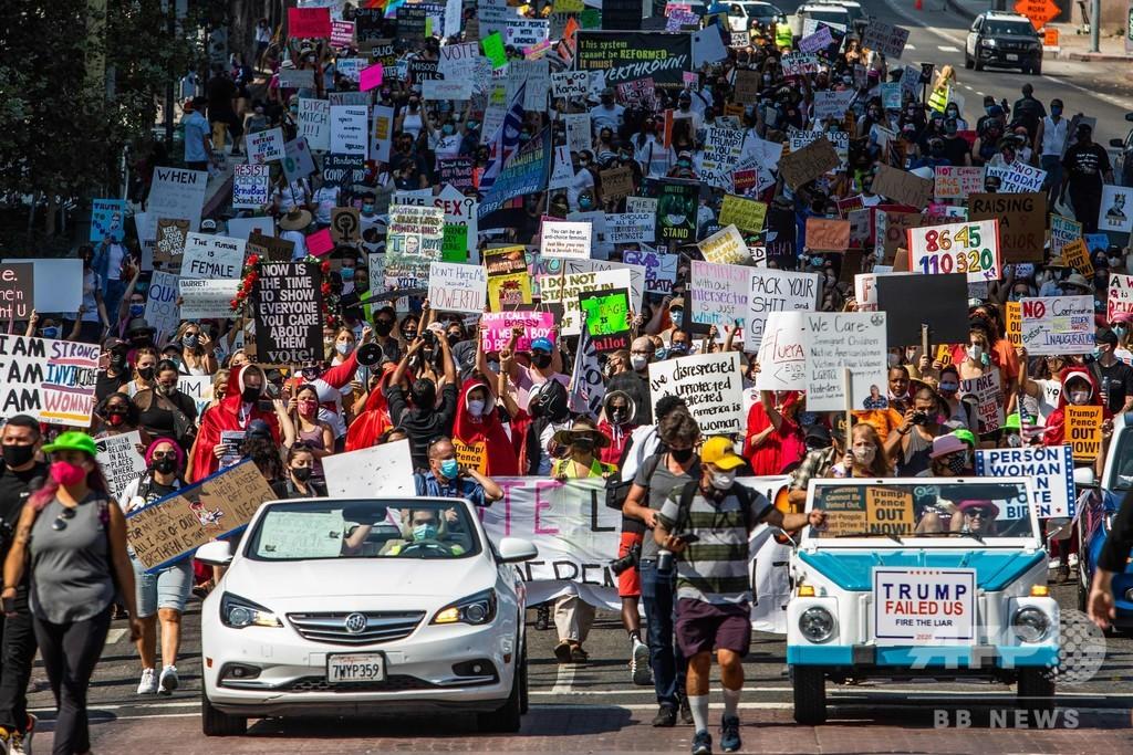 米各地で反トランプデモ、最高裁判事の保守派指名に抗議