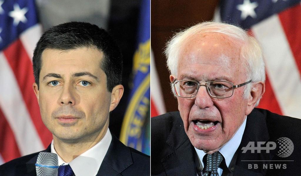 米民主アイオワ党員集会 集計終了もブティジェッジ、サンダース両氏互角
