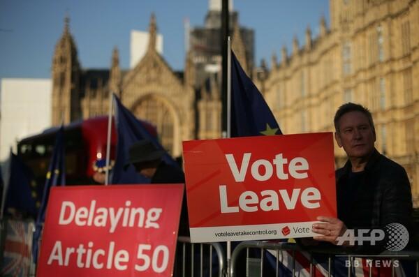 英、ブレグジット合意案否決なら延期めぐる採決実施へ 首相表明