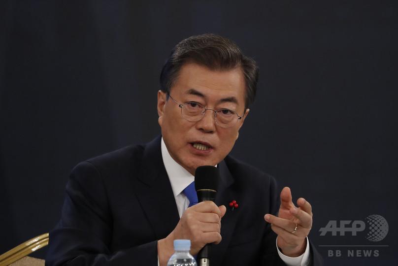 米朝対話の実現、「楽観は時期尚早」 韓国大統領