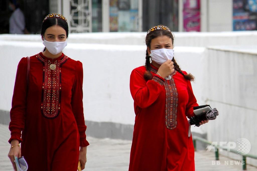 コロナ患者「ゼロ」主張のトルクメニスタン、「ほこり」対策でマスク着用奨励