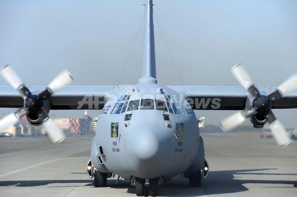 日米共同総合演習「キーン・ソード」、C130輸送機に同乗