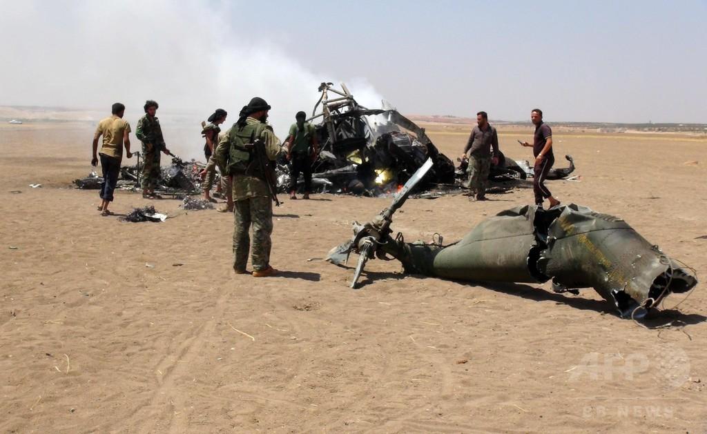 シリアでロシア軍ヘリ撃墜、5人死亡