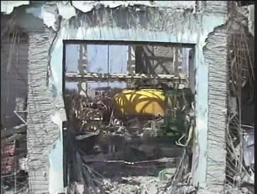 無人ヘリから撮影した福島第1原発