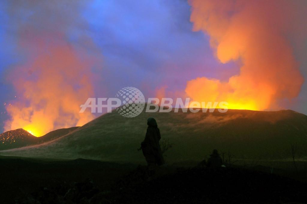 噴火で活気づく火山観光、コンゴ民主共和国