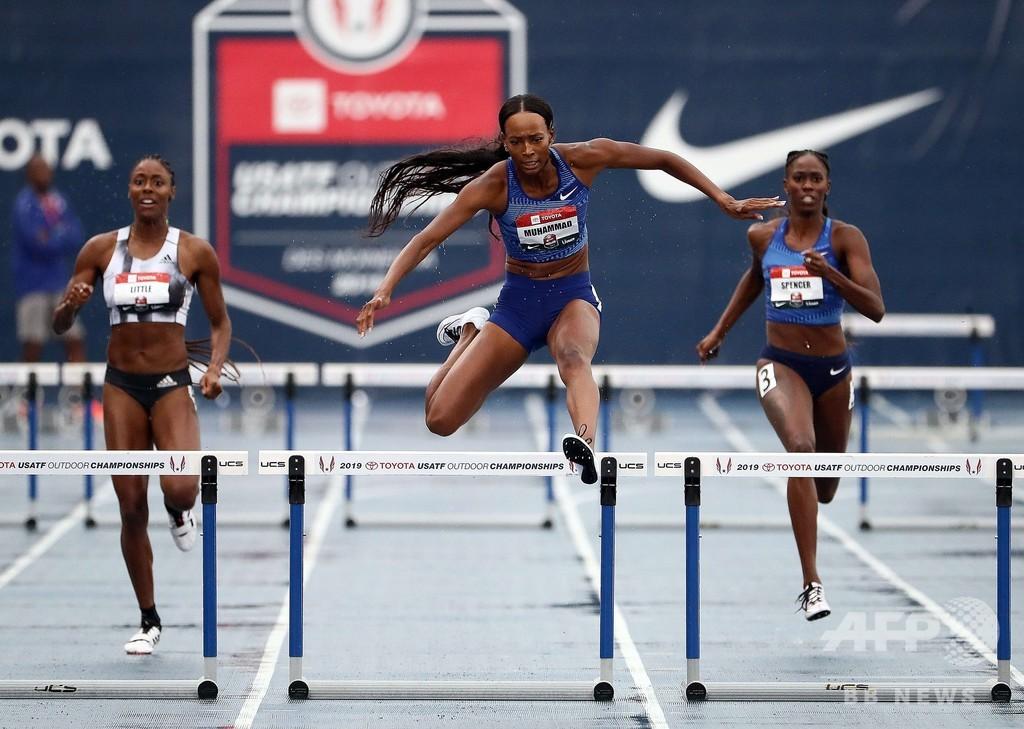 五輪金のムハンマド、女子400mハードルで世界新記録樹立