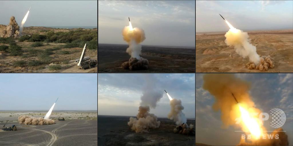 イラン、「地中深く」から弾道ミサイル発射に成功 「世界初」強調