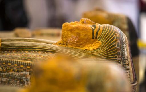 動画:エジプト遺跡でひつぎ30個発掘、3000年を経ても色彩豊か