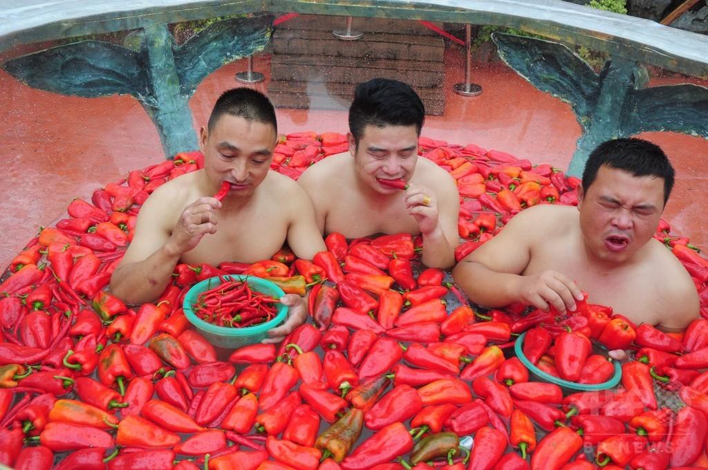 中も外も辛い! 唐辛子早食い選手権 中国