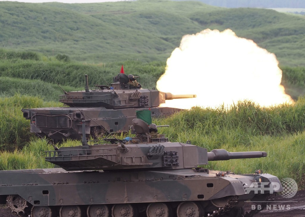 陸上自衛隊、富士山東麓で「総合火力演習」の予行演習