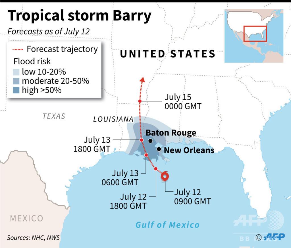 米南部に熱帯低気圧が接近 トランプ大統領、非常事態を宣言