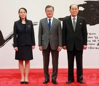 韓国の保守派が抗議活動、正恩氏妹らが鑑賞予定の北楽団公演の劇場前