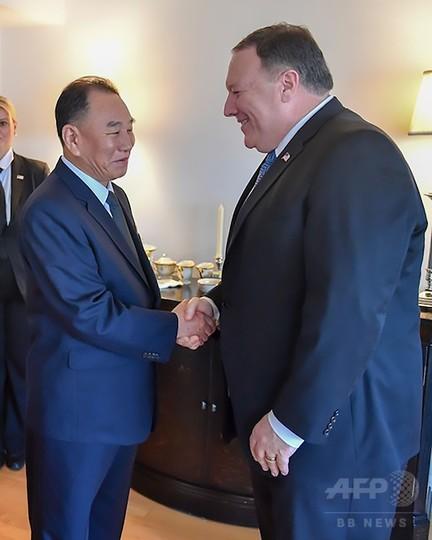 北朝鮮高官が米国入り、ポンペオ...